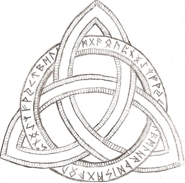 Triquetra Tattoos Designs Ideas And Meaning: Old Ivy And Hollow Trees
