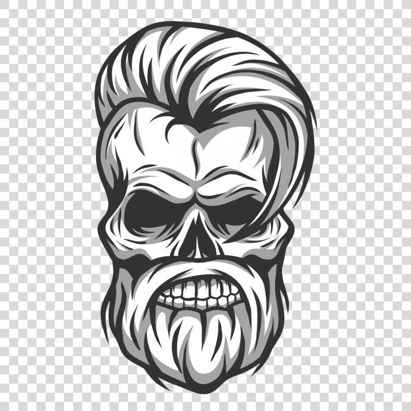 Hipster Skull Stock Photography Illustration Vector Hair Handsome Skull Png Hipster Art Beard Black And Photography Illustration Skull Beard Beard Vector
