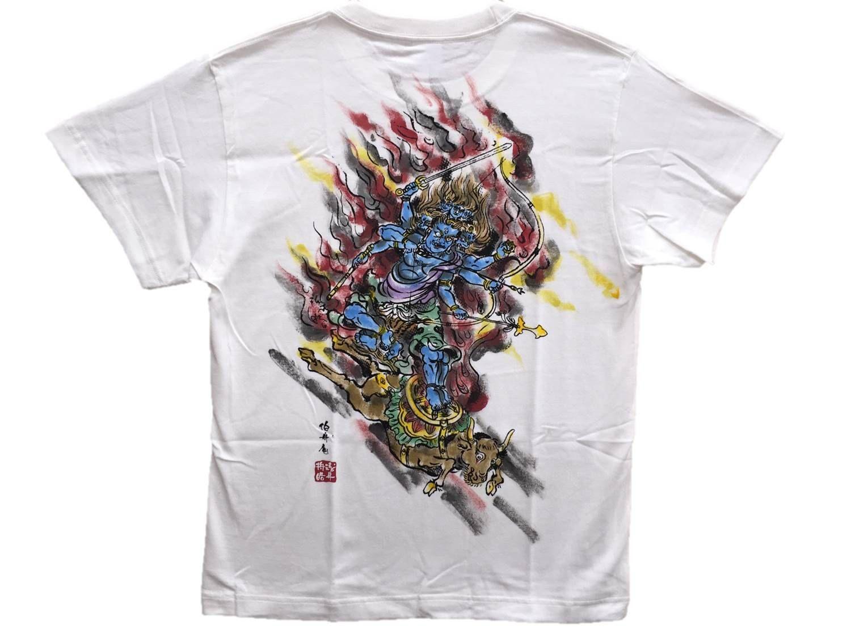 Color in japanese art - T Shirts Men Daiitoku Myo O Color Buddhist Japanese Art Our Buddhist Art