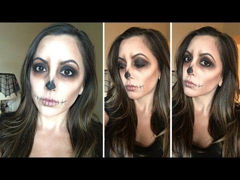 easy skull halloween makeup tutorial ⎮⎮ fancy lashes