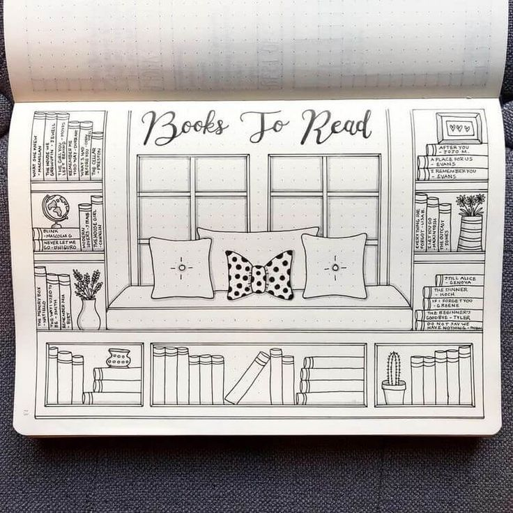 Bücher zum Lesen des Bullet-Journal-Vorlagenlayouts #bookstoread