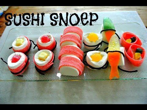 Afbeeldingsresultaat voor traktatie sushi van snoep