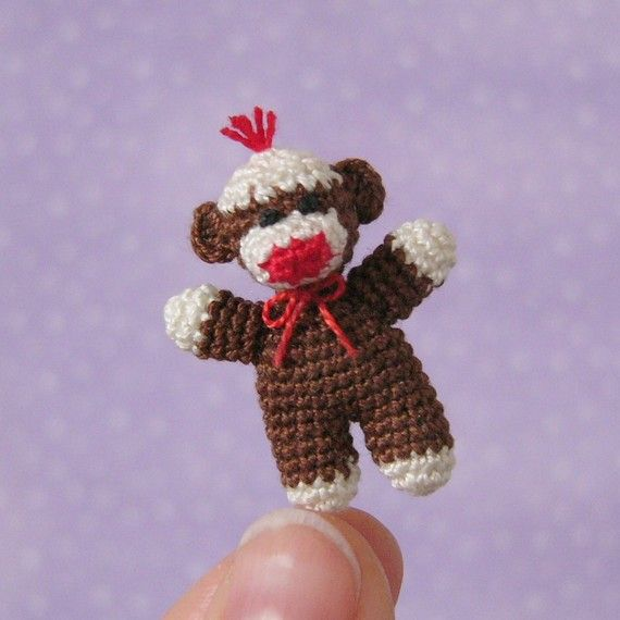 PDF PATTERN To Crochet a Miniature Baby Sock by MuffaMiniatures ...
