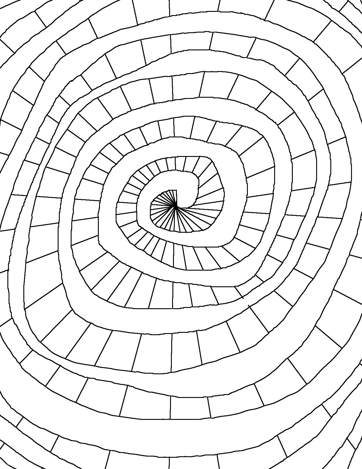 Coloring Page World Color Spiral Shape Coloring Pages Coloring
