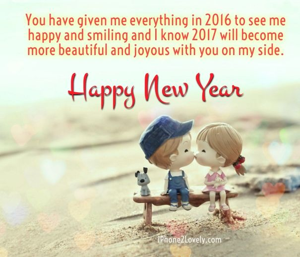 cute romantic new year 2017 wishes for him