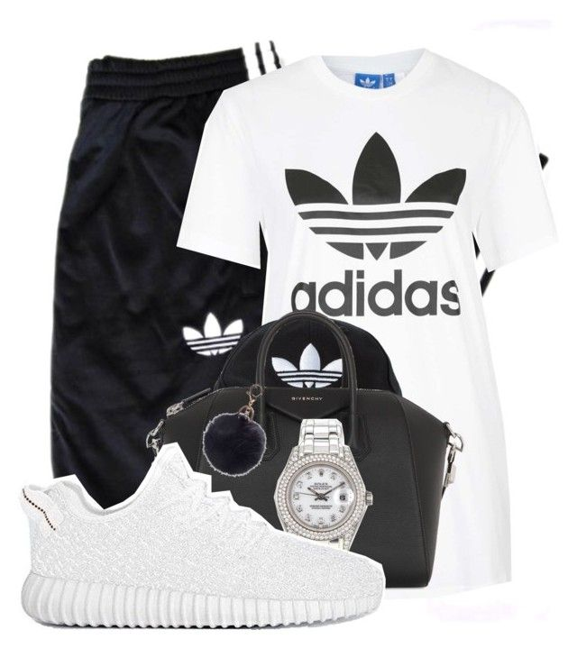 """ADIDAS"" by alexanderbianca ❤ liked on Polyvore featuring adidas Originals, adidas, Givenchy and Rolex"