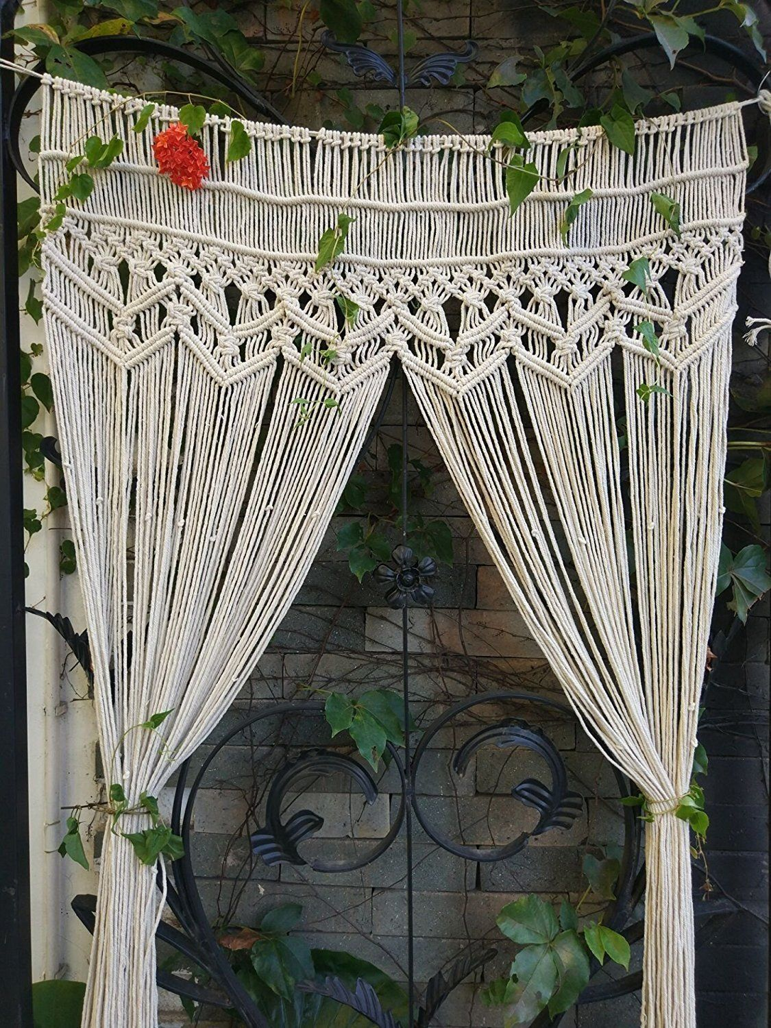 Handmade Macrame Wall Hanging Tapestry Macrame Door Hanging Room Divider Macrame Curtains Wi Room Divider Doors Hanging Room Dividers Macrame Wedding Backdrop