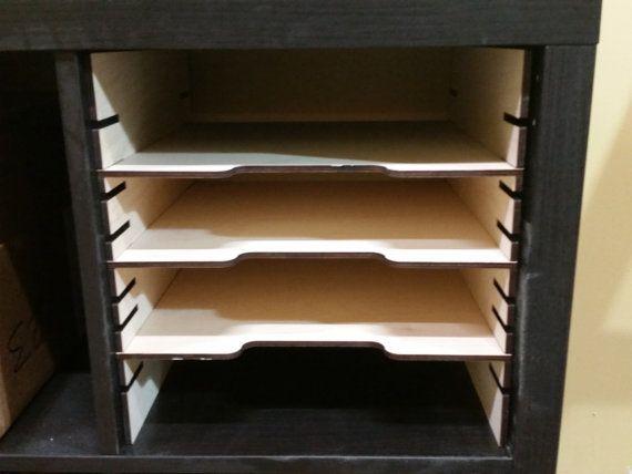 Storage Unit Customized With Cube Inserts For Lock Down Punc Sala De Trabalhos Manuais Armazenamento De Sala De Artesanato Quartos Para Material De Scrapbook
