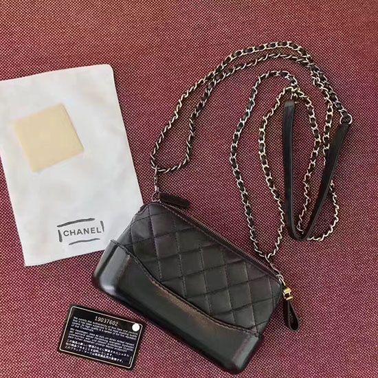 Chanel Gabrielle Clutch With Chain Bag Black A94505