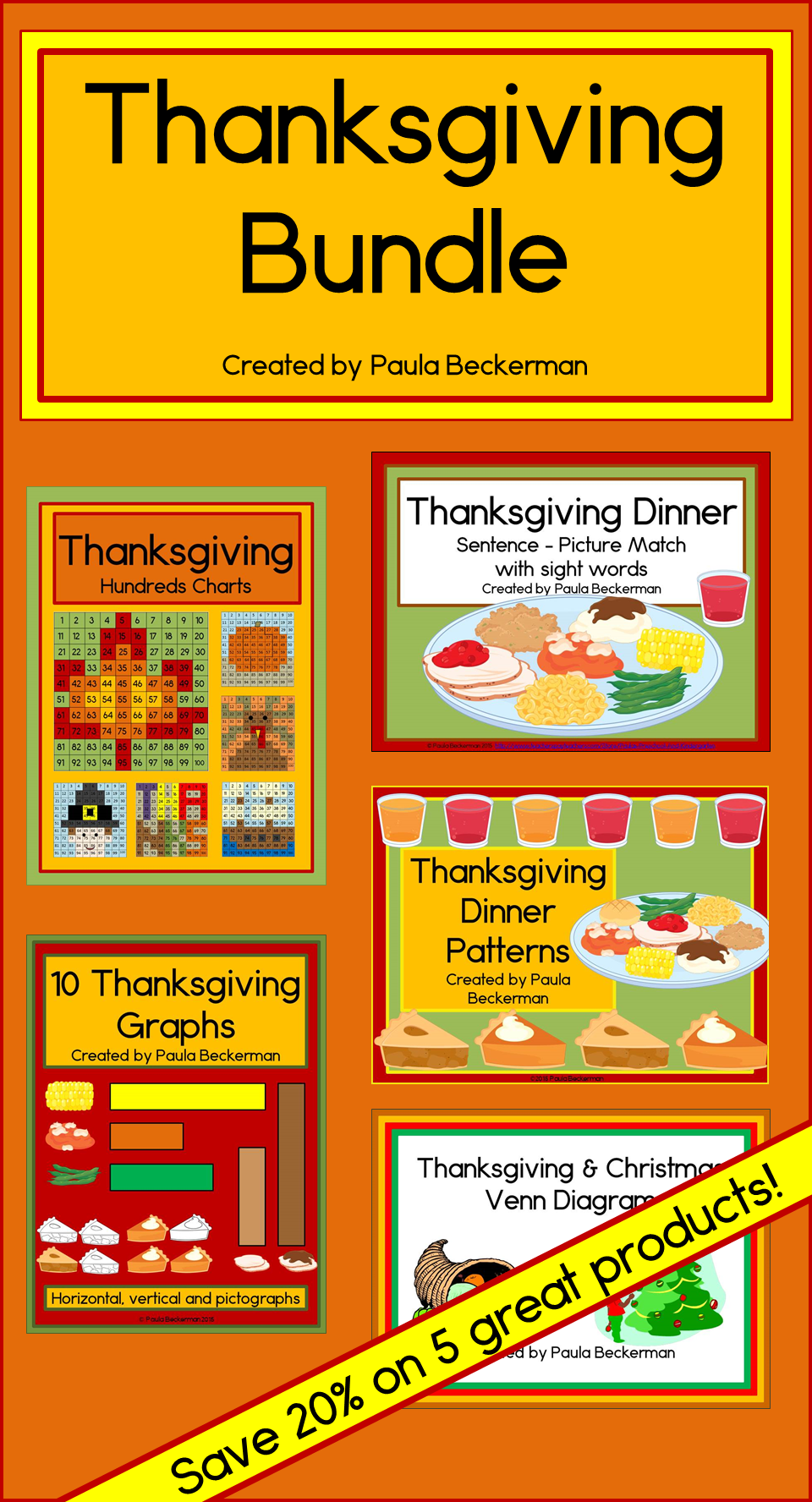 Thanksgiving Bundle Includes Five Great Thanksgiving Activities Graphing Venn Diagrams Hundreds Charts Sente Graphing Thanksgiving Sentences Hundreds Chart [ 1776 x 960 Pixel ]
