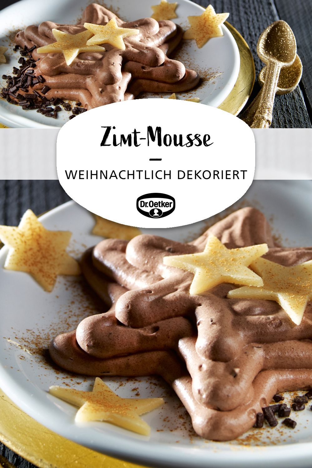 Zimt-Mousse mit Marzipansternen #homemadesweets