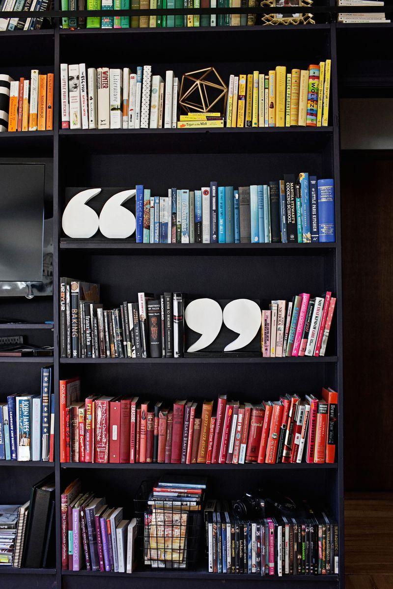 DIY Quotation Mark Bookends | Pinterest | Separar, Libros y Color
