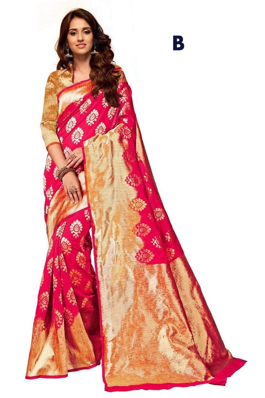 be1b4520f421af Buy Apparels- Disha Patani Heavy Cotton Silk Jacquard Party Wear Saree
