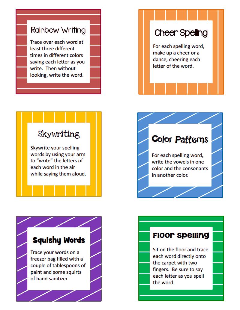 Multisensory Spelling Activity Cards Pdf Google Drive Multisensory Spelling Spelling Activities Teaching Spelling