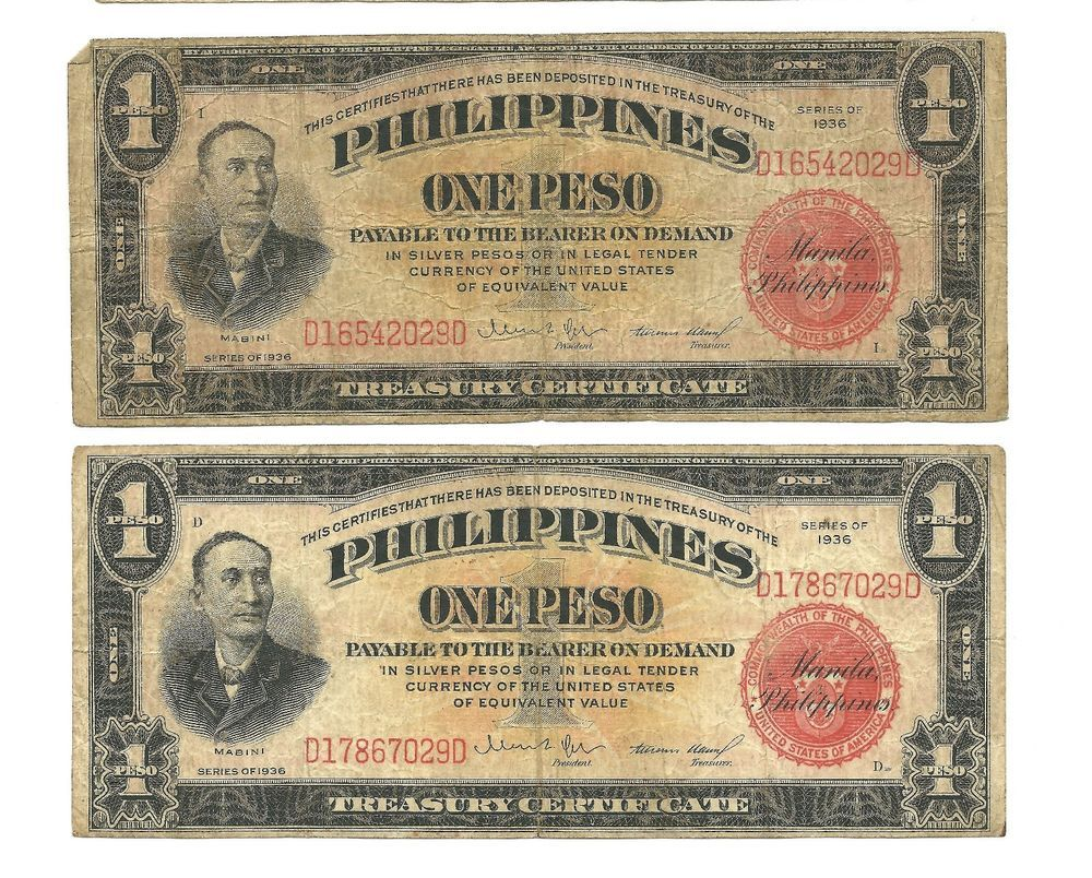 1936 philippines commonwealth treasury certificates 1 peso 1936 philippines commonwealth treasury certificates 1 peso xflitez Images