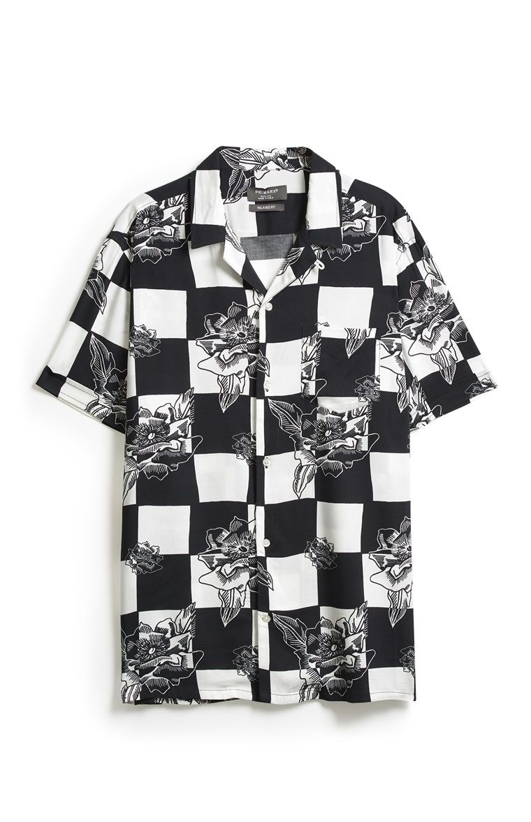 Zwart Wit Geruit Overhemd.Zwart Wit Geruit Overhemd Men S Fashion In 2019 Black Mens Tops