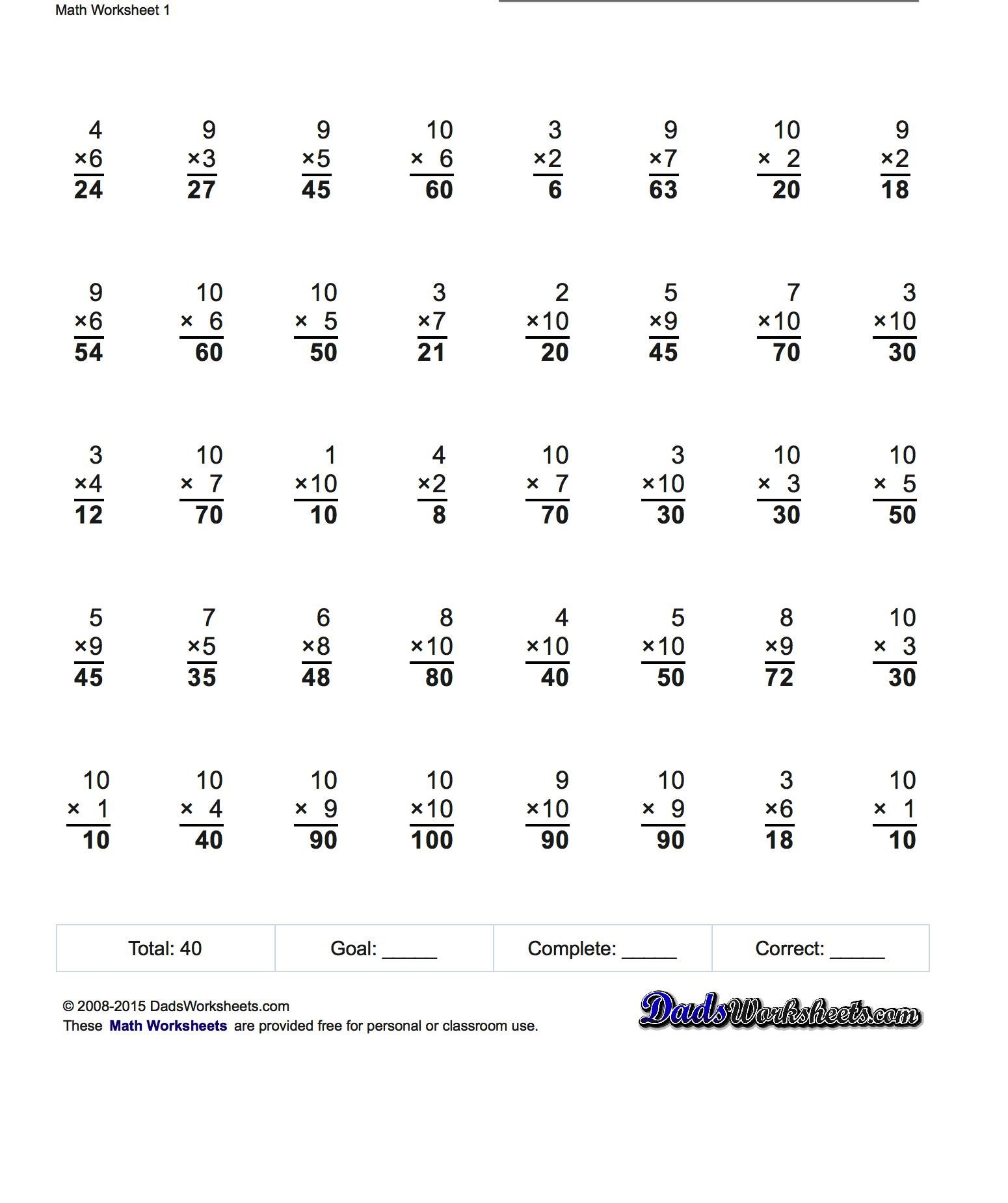 Multiplication Worksheets Extended Spaceship Math