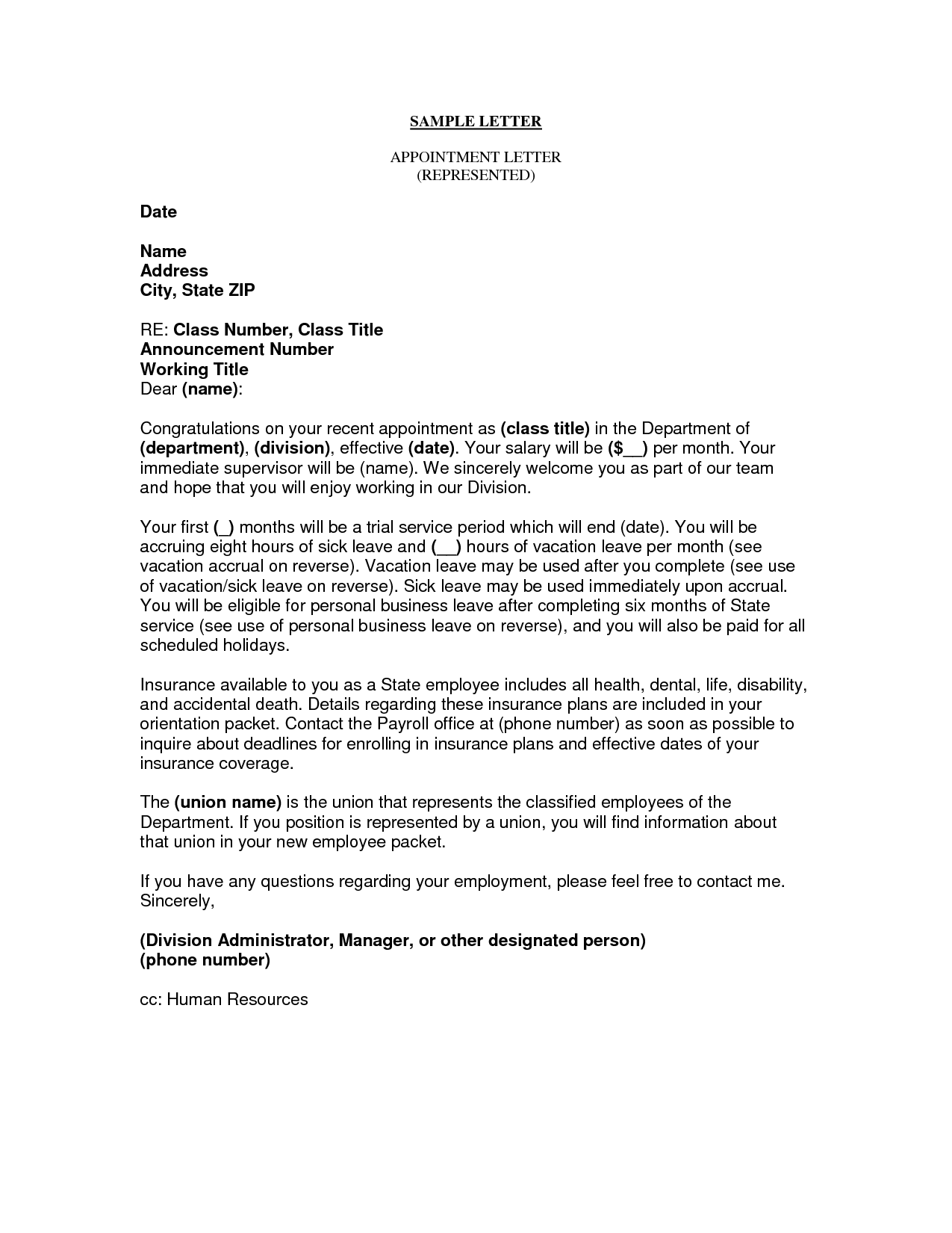 letter appointing a representative business appointment letter this letter is used in any 9572