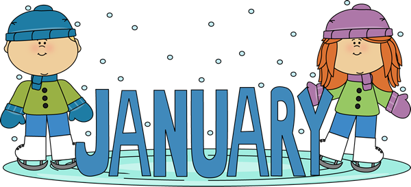 January Birthday Clip Art January Ice Skating Kids Clip Art Image The Word January In Blue Free Clip Art Calendar Pictures Clip Art