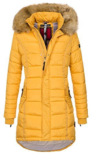Navahoo Papaya Damen Winter Jacke Steppjacke Mantel Parka