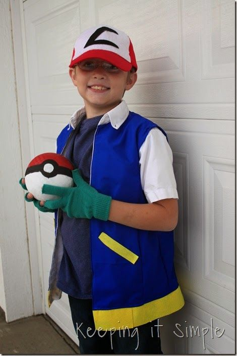 Pokemon Ash Ketchum Kost/üm Cosplay Hut Kappe Costume