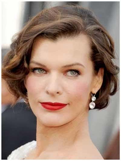 Mila Jovovich's Curly Short Cropped Bob Hairstyles