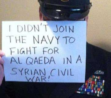 U.S. Military Members Oppose Syria Strike With Controversial Pictures