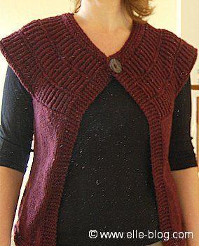 modele gratuit de gilet sans manche a tricoter