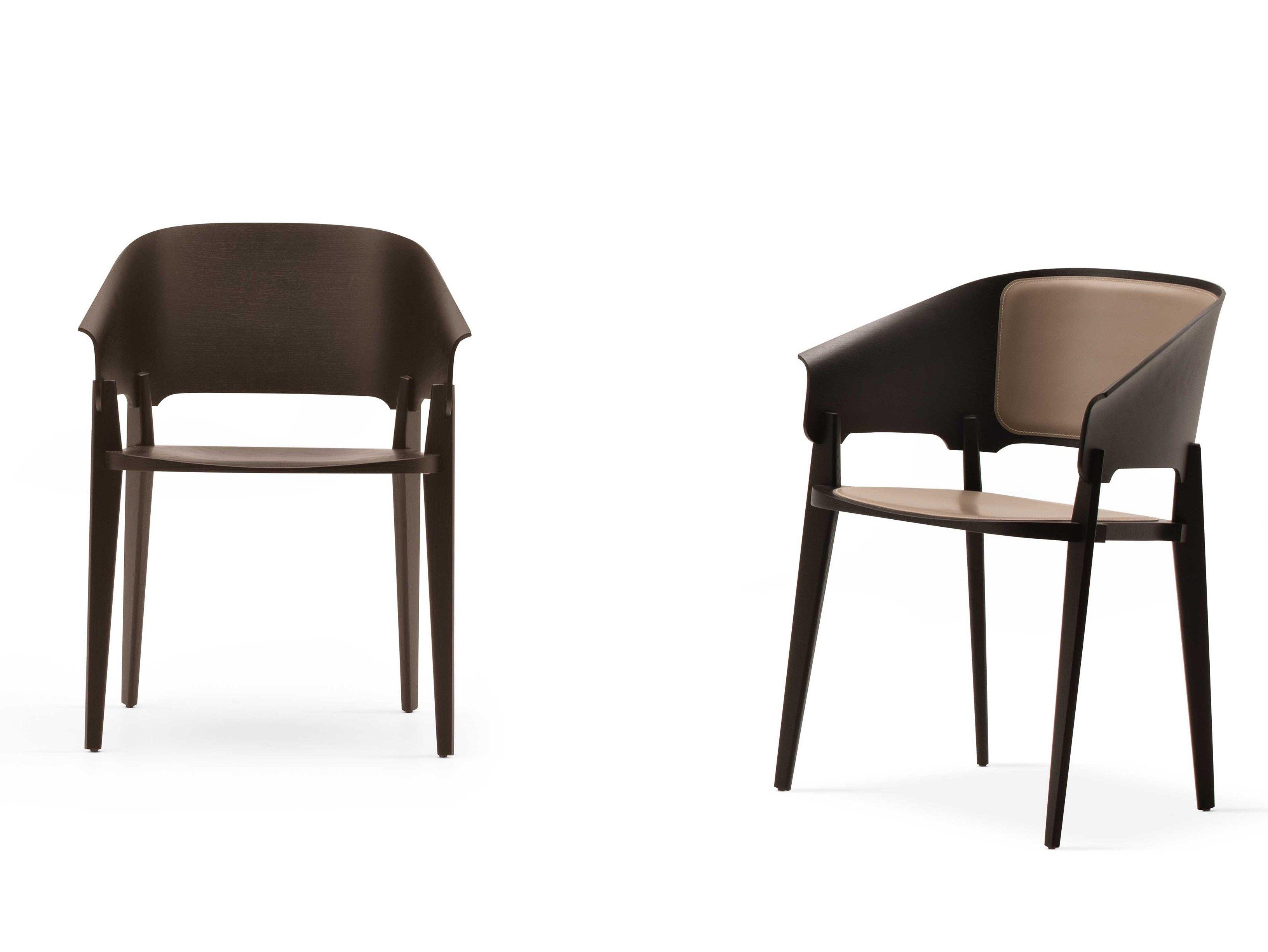 Sedie In Legno Con Braccioli : Sedia in legno con braccioli threepiece by busnelli design