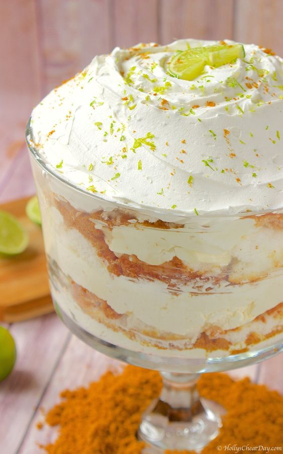 Key Lime Trifle #trifledesserts