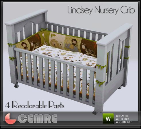 cemre's Lindsey Nursery Collection Crib Sims baby, Sims