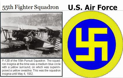 Swastika`s used by US Air Force in 1932.