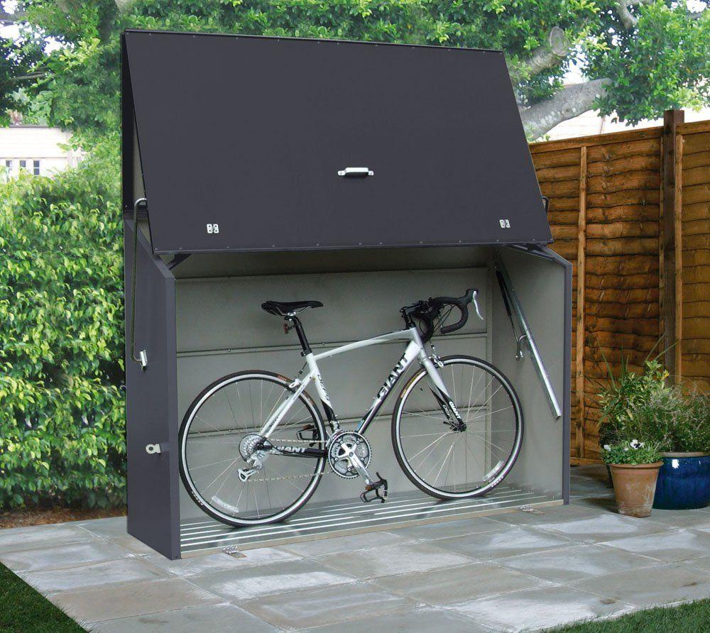 Trimetals Geratebox Aufbewahrungsbox Multifunktionsbox Fahrradbox Sesame Anthrazit 185x76x139 Lxbxh Wasserdi Fahrradbox Fahrradkeller Aufbewahrung Garten