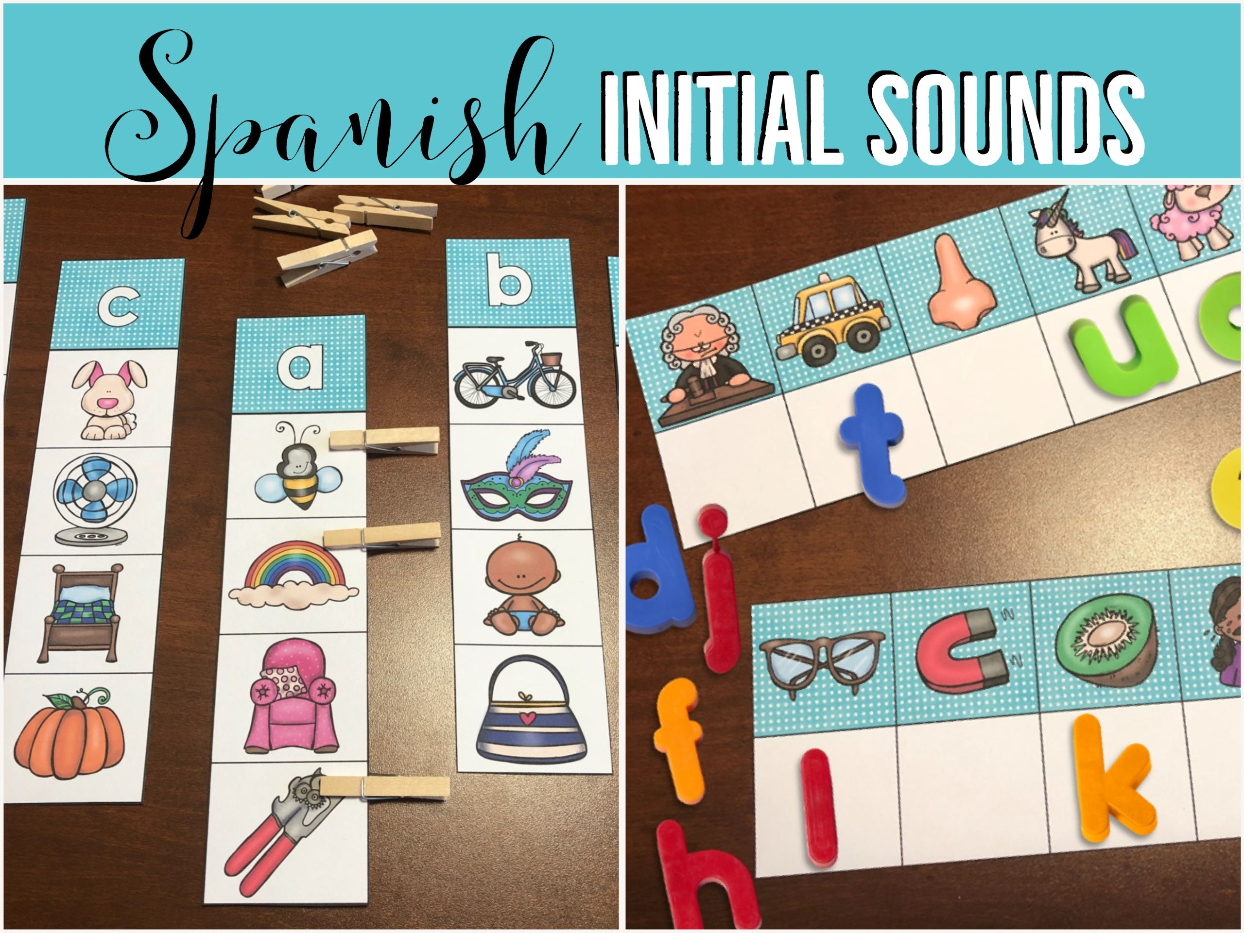 Spanish Initial Sounds Stations