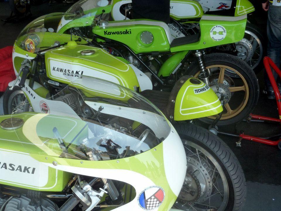Motos de course anciennesLe Castellet 2013 カフェレーサー