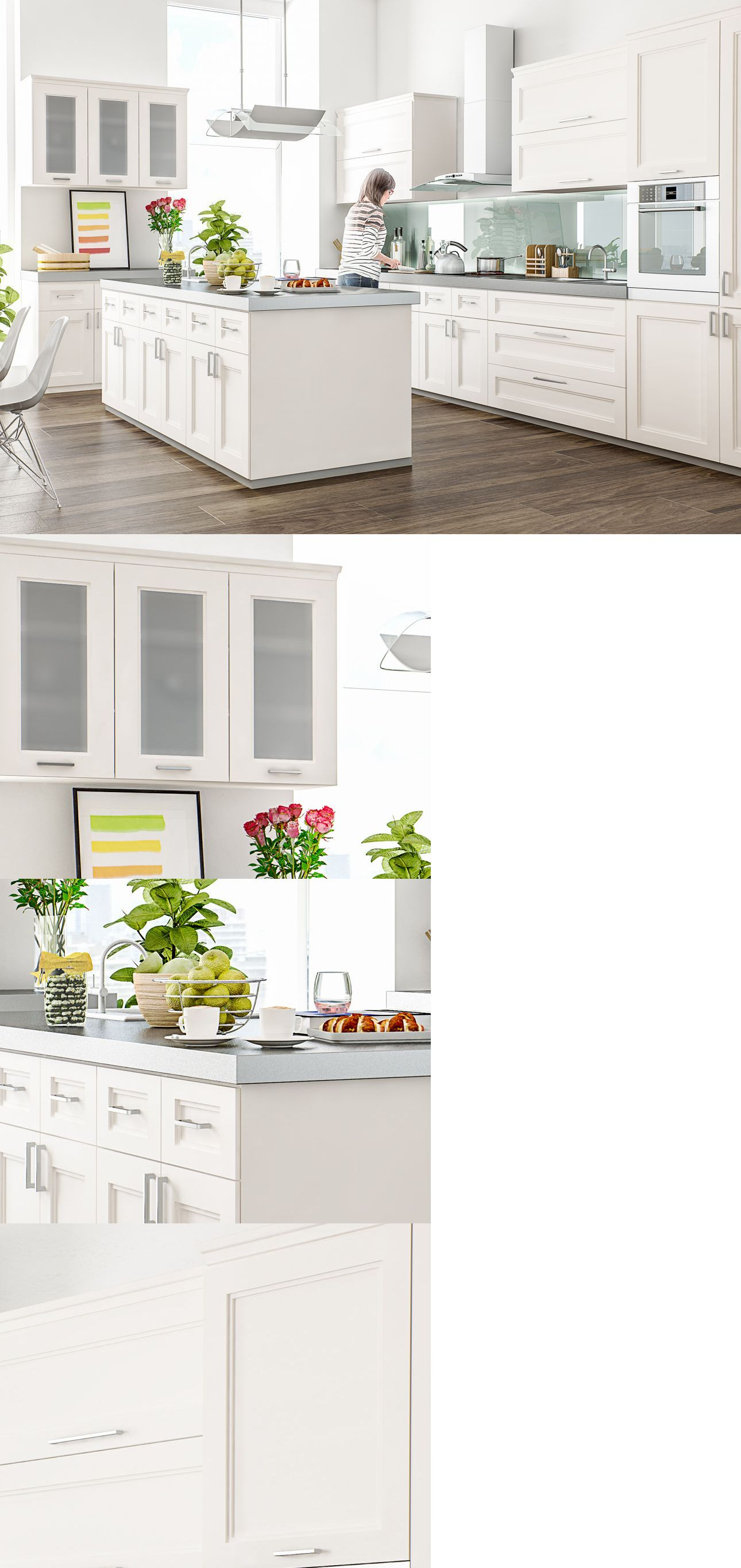 10x10 kitchen cabinets - Cabinets 85879 Transitional All Wood Rta 10x10 Transitional Kitchen Cabinets In Fashion White