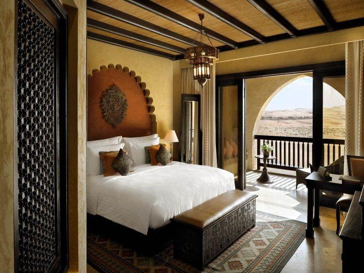 Formidable Decoration Orientale Moderne #10: Décoration-orientale Moderne -bout -lit Lustre Arc Brisé Arabe