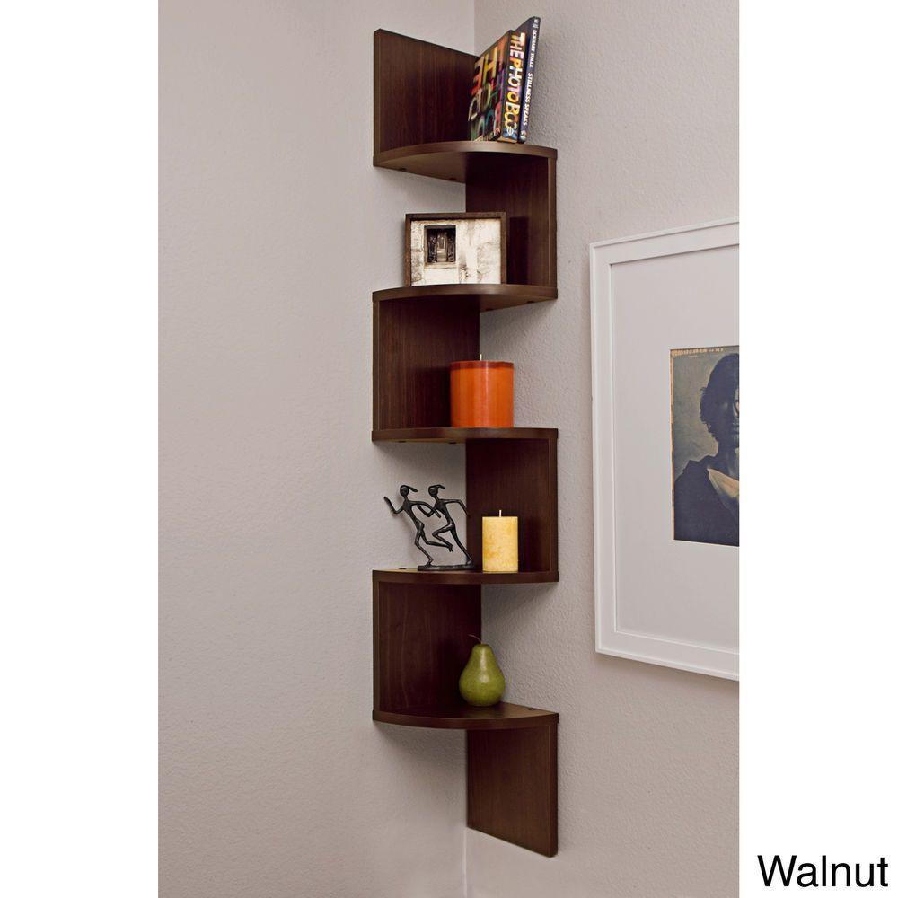 Corner Wall Shelf Laminated Mount Floating Modern Decor Wood Display Storage Cornerwal Large Corner Shelf Wall Mounted Shelves Corner Wall Shelves