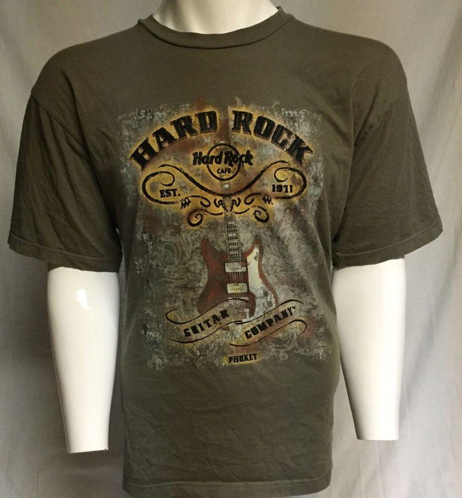Design t shirt hard rock cafe - Hard Rock Cafe Guitar Company Phuket X Large Short Sleeve Tee T Shirt Xl