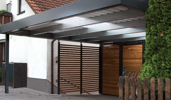 Teiltransparentes dach am siebau carport carport fahrradgarage