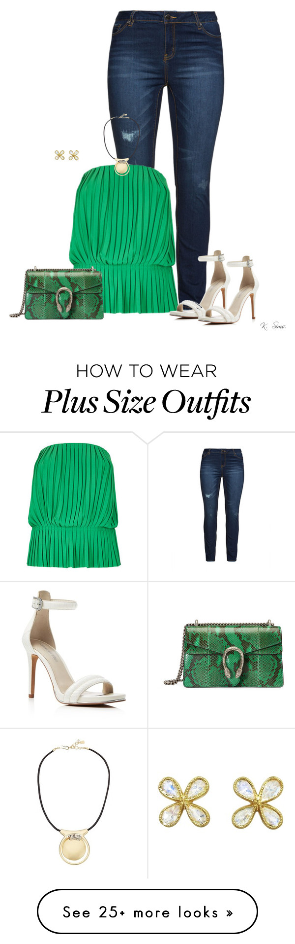 """For some reason, I could only use white heels"" by ksims-1 on Polyvore featuring Mynt 1792, Nicole Miller, Kenneth Cole, Gucci, Robert Lee Morris and Cathy Waterman"