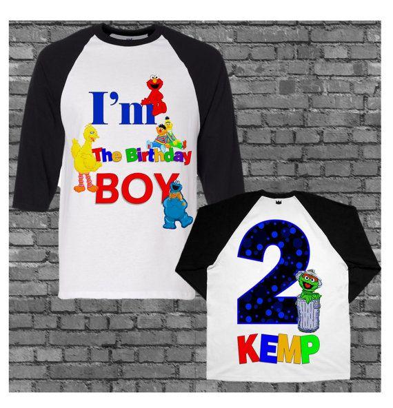 68f4d03a Sesame Street Birthday Shirt Different Styles by funfashionsetc Custom Birthday  Shirts, Personalized Birthday Shirts,