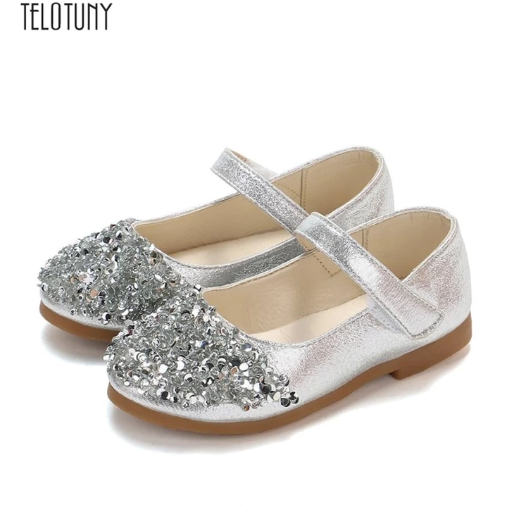 Telotuny Baby Girl Princess Shoes Kids Toddler Infant Girls Fashion Crystal Leather Single Shoes Party Princess Shoes Zo04 Kids Wedding Shoes Flower Girl Shoes Girls Shoes Kids