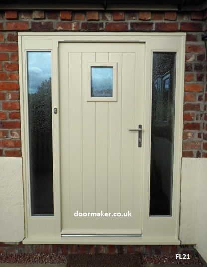 on wood external doors with side panels