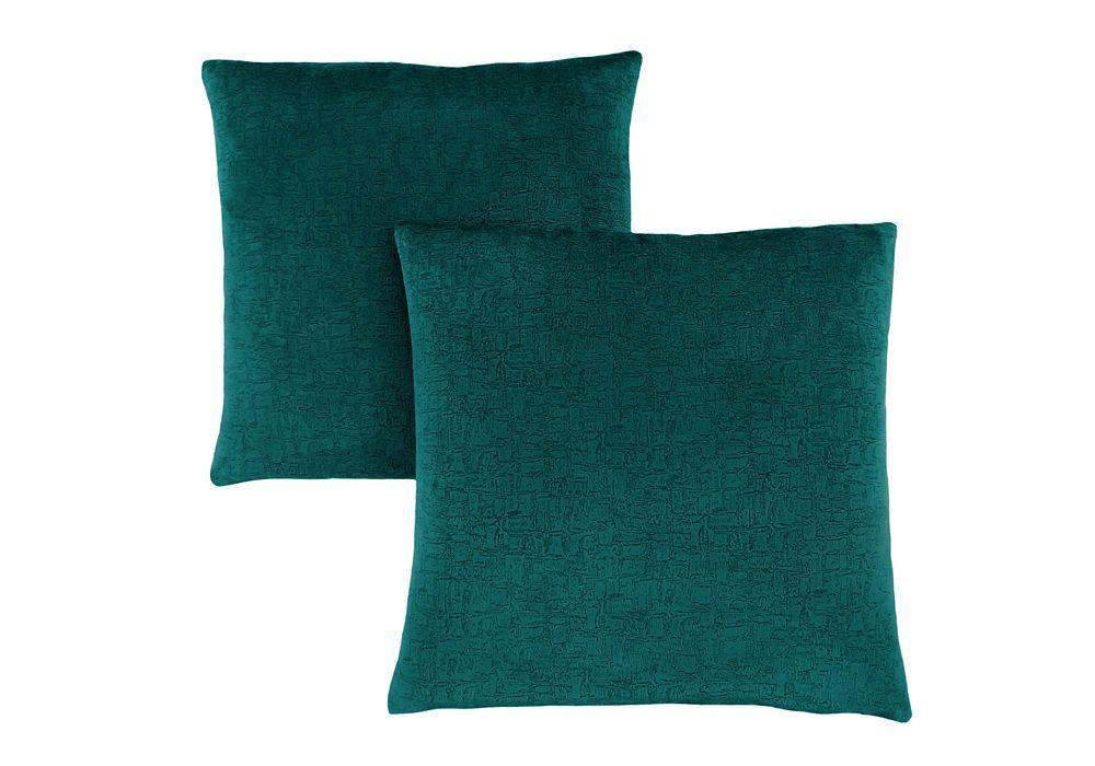 18 x 18 Monarch Specialties I 9283 Mosaic Velvet Decorative Throw Pillow Blue