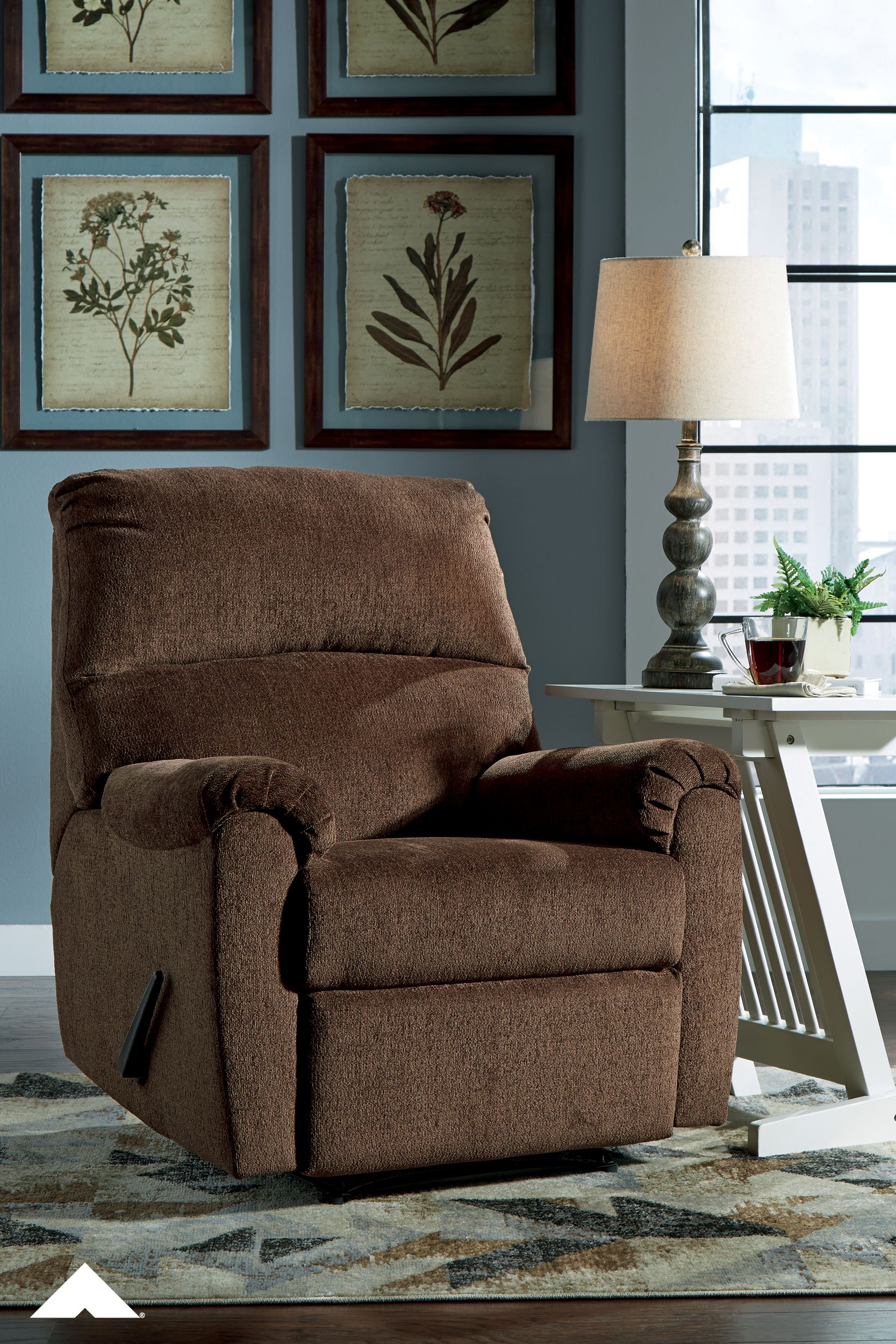Nerviano Chocolate Zero Wall Recliner By Ashley Furniture Indulge In Comfort While Saving On Space With The Nerviano Zero Wal Ashley Furniture Furniture Room