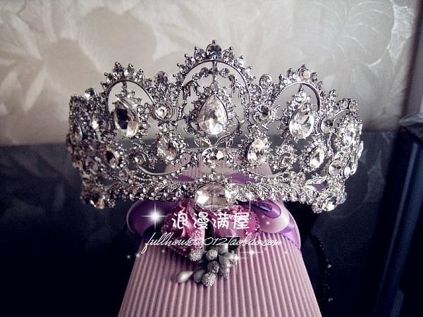 Large Sparkling Crystal Tiaras Crown Bridal Jewerly Wedding Accessory Hair Hairwear Princess Evening Party Gift