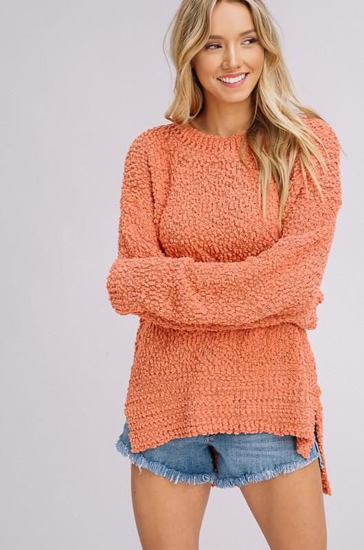 c0733e6149 Brick Pullover Plush Popcorn Sweater by Listicle from Divine Couture  Boutique