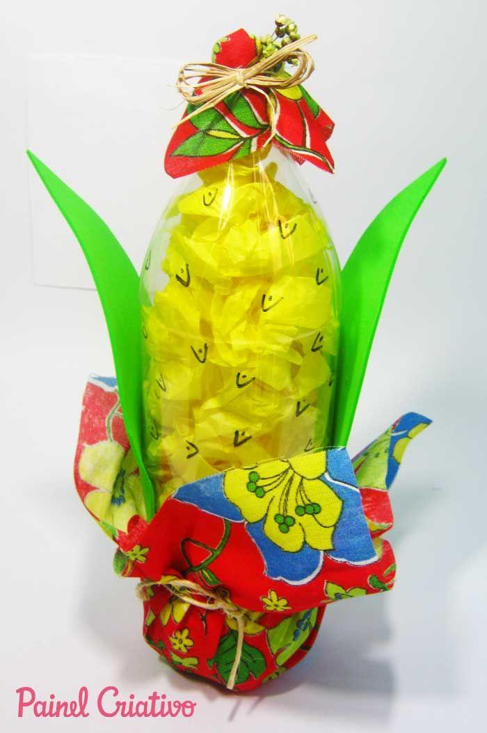 Aparador Ingles Significado ~ enfeite festa junina garrafa pet ideias Pinterest Enfeites festa junina, Garrafas pet e