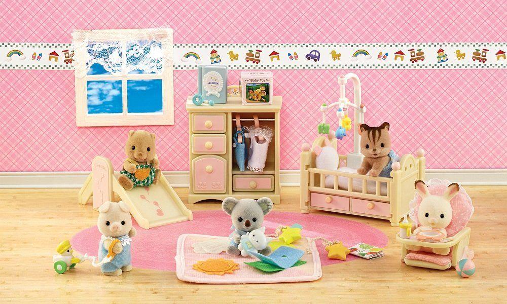 Amazoncom Calico Critters Babys Nursery Set Toys Games